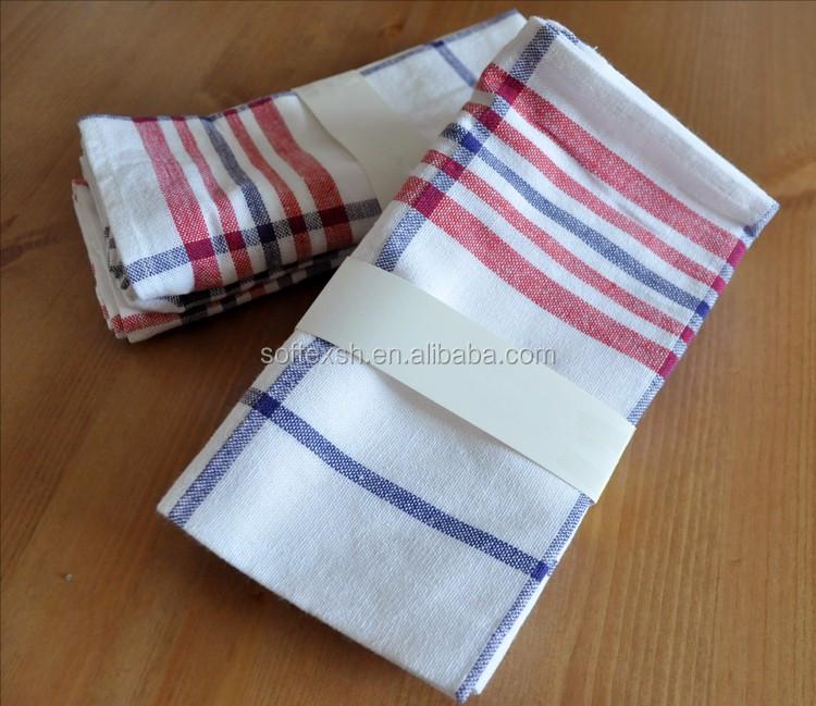 100% Cotone Striscia Colorata Tessuto Canovaccio Da Cucina Set ...