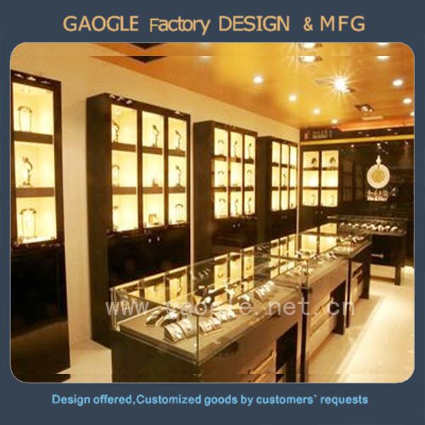 New Design Mdf Glass Jewellery Showroom Designs With Display