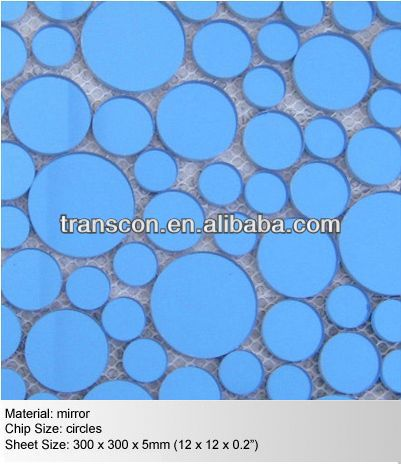 Mixed Color Cheap Swimming Pool Glass Mosaic Tile In 4mm Thickness ...