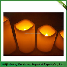 moving flame wick led candle /dancing flame led candle
