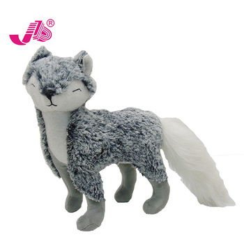 Squinting fur fox plush animal for christmas