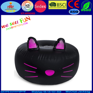 Kids Furniture Inflatable Cat Ottoman, Cartoon Style Folding Inflatable Stool