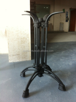 11 Iron Frame Cast Iron Restaurant Pedestal Table Base For Stone Table Top  (F21)