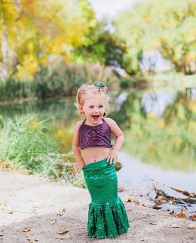 f69aadf4b5d1 Baby girl kids Mermaid Tail fancy green Dress Girl Mermaid Tail Swim Bikini  Se kids Bathing