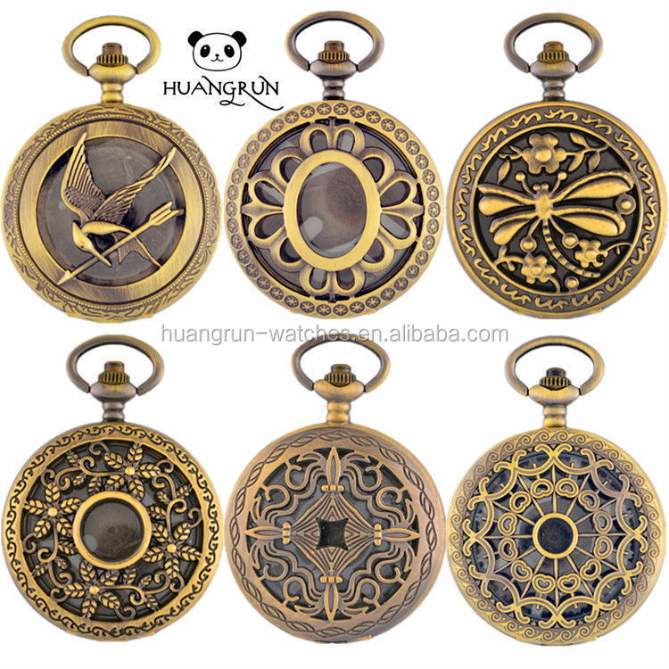 Japan movt quartz nursing antique pocket quartz watches