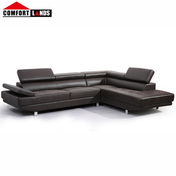 Hot Leather L Shape Sectional Sofa Couch With Chaise Lounge White Black Brown
