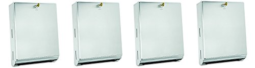 Bobrick 262 Surface-Mounted Paper Towel Dispenser, 10 3/4 x 4 x 14, Satin Stainless Steel (4-(Pack))
