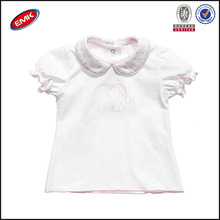 soft cotton baby girls fancy polo t shirts with collars