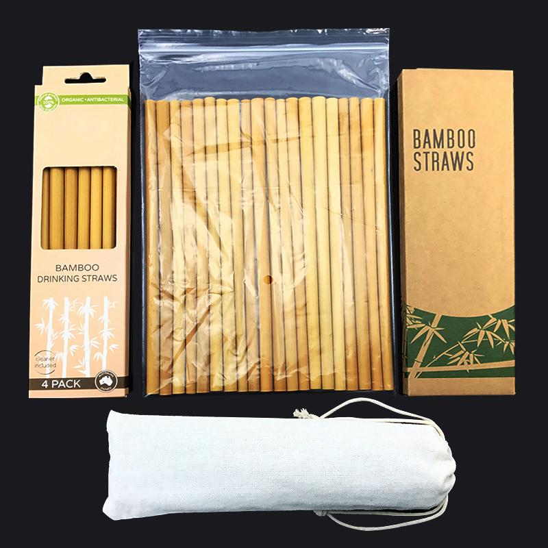 12 ชิ้นอินทรีย์ไม้ไผ่หลอดดื่ม - นำมาใช้ใหม่ที่แข็งแกร่งทนทานย่อยสลายเป็นมิตรกับสิ่งแวดล้อมฟาง Bambo ด้วยการทำความสะอาดแปรงและกระเป๋า