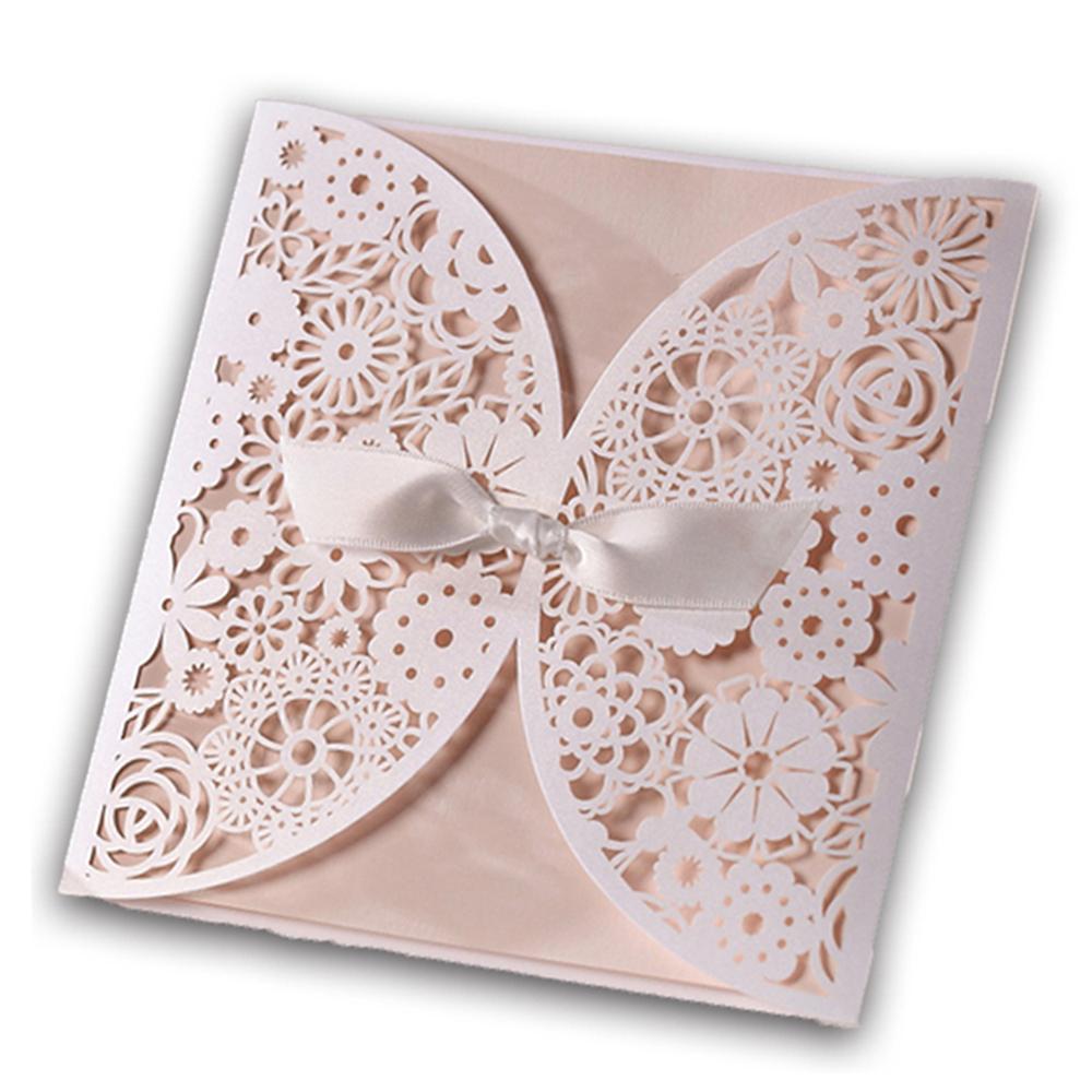 Wedding Invitations Laser Cut Paper: 12Pcs/Lot Laser Cut Wedding Invitations Paper Cards Party