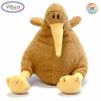 D117 Plump Friendly New Zealand Maori Kiwi Bird Plush Toy Stuffed
