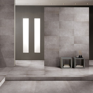 latest trend industrial look grey color porcelain cement tiles
