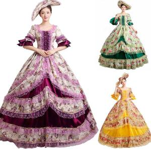 Customized ecoparty Womens Lolita Royal Princess Long Dresses Medieval Halloween Party Fancy Dress