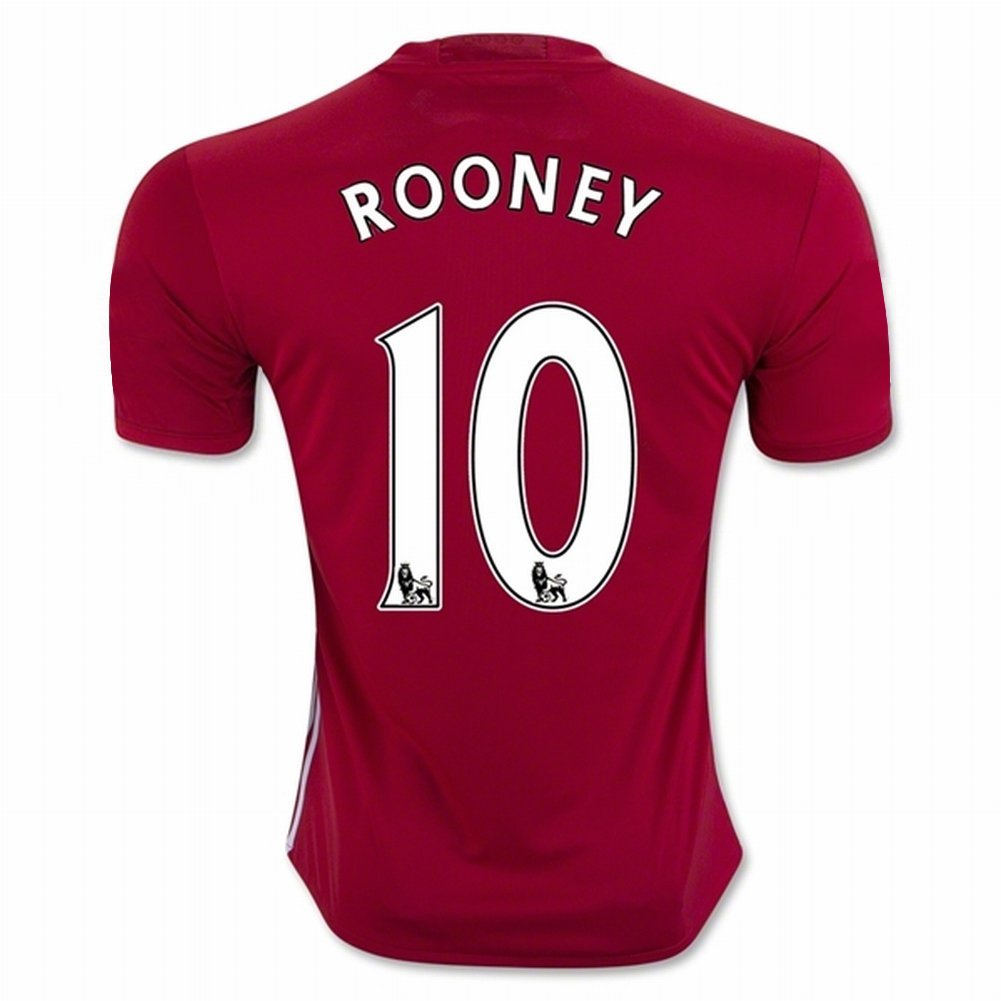 bfdc8cdbf Get Quotations · 2016 2017 Manchester United FC 10 Wayne Rooney Home Football  Soccer Jersey In Red For New