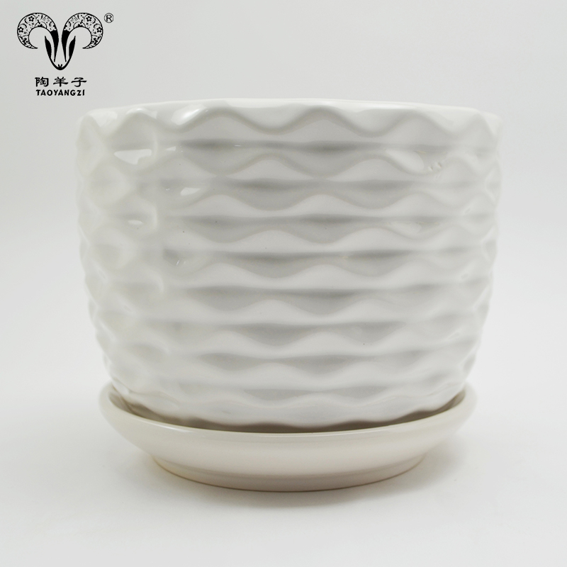 Wholesale Cheap Eco-friendly fashion design Ceramic flower pot for planting, home garden