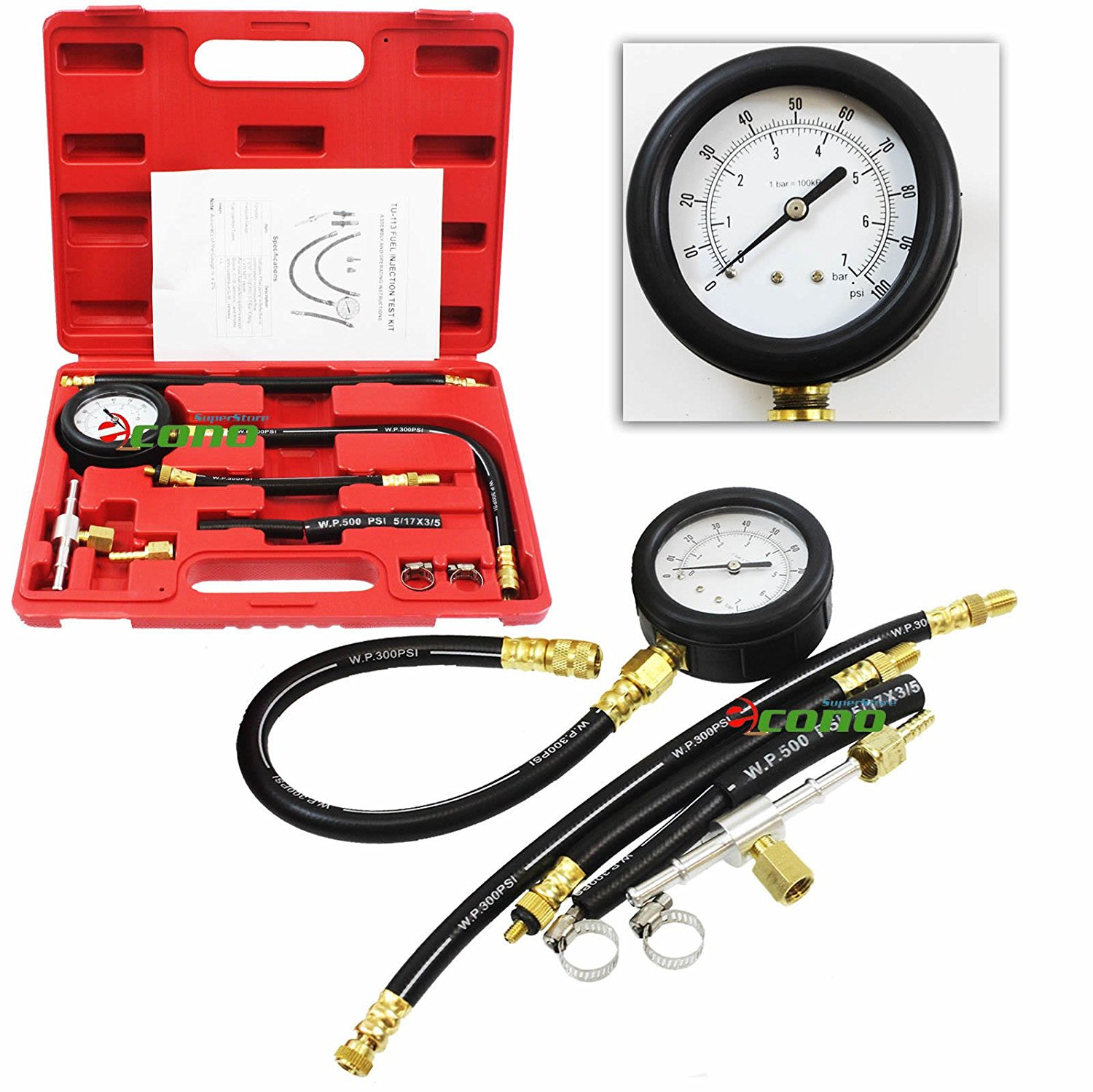 Cheap Repair Fuel Injection Pump Find Cav Diagram On Perkins Get Quotations Injector Tester Gas Combustion Spary Pressure Gauge Diagnost