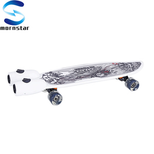 28 Inch Cruiser Retro Plastic Skateboard with Music and Jet Sprayer
