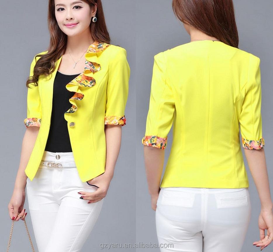 korean style wholesale yellow suit custom made suit buy yellow