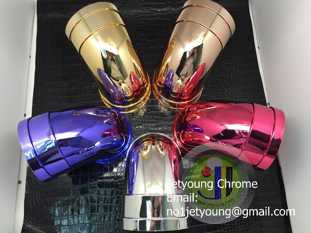 Super chrome powder coating, color chrome mirror spray paint, minis spray on chrome kits.