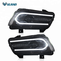 VLAND sequential factory manufacturer 7th Gen led DRL SRT SXT head lights 2011-2014 headlight For dodge charger