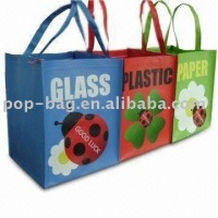 3 bag set for recycle and classification pp woven garbage bag