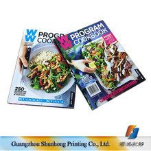 Guangzhou Factory Wholesale Hard Cover Custom Cheap Cookbook Printing/Cheque Book/Catalog Printing