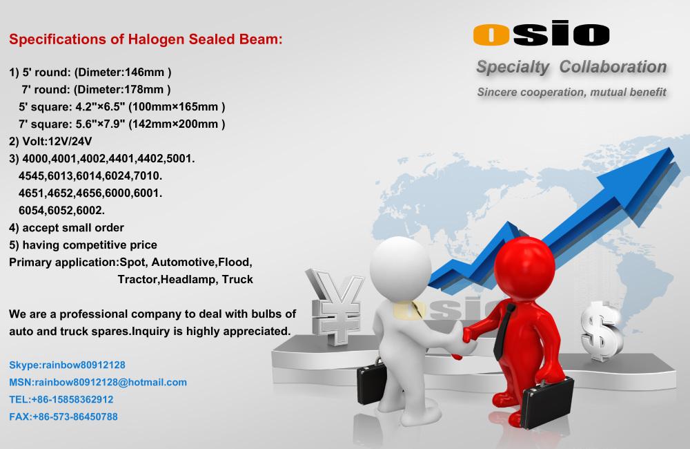 4 Inch Round 112 Fog Light Auto Halogen Crystal Sealed Beam H3 ...