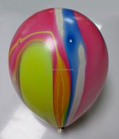 Random colors make up round balloon like rainbow