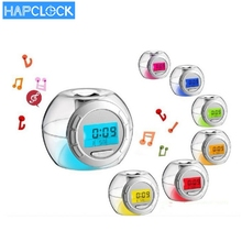 Plastica <span class=keywords><strong>7</strong></span> cambiamento di colore del led <span class=keywords><strong>digital</strong></span> lcd <span class=keywords><strong>alarm</strong></span> <span class=keywords><strong>clock</strong></span>