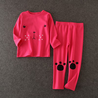NEW Long Sleeve Shirt And Pant Home Wear Children's Clothing Fashion Baby Clothes kids night wear baby girls cotton sleepwear
