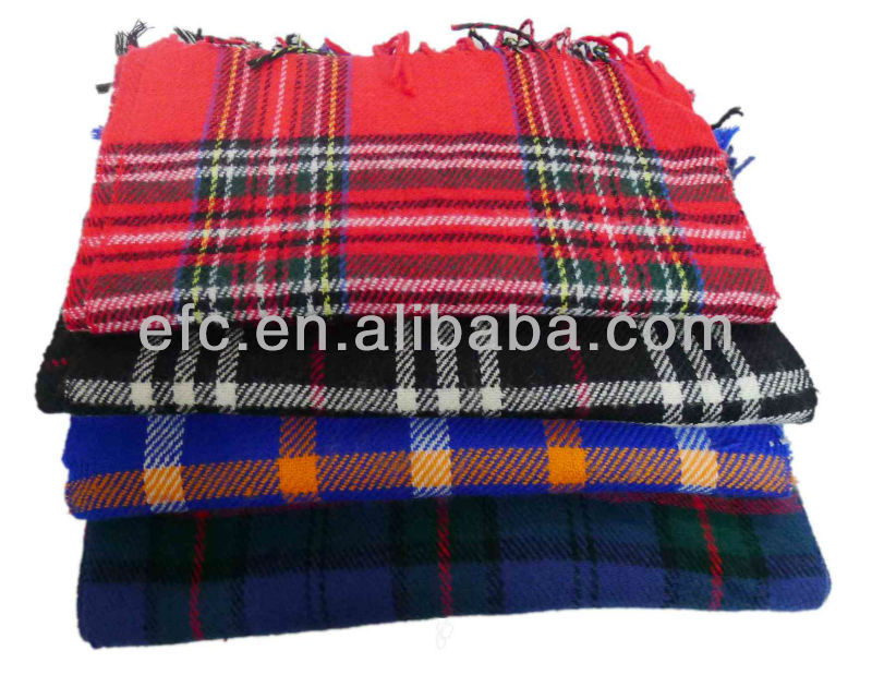 Classical Fashion 100% Acrylic Plaid Scarf