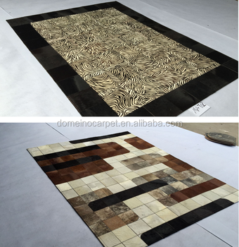 Superior Top Sale Hand Tufted Bedroom Carpet Cow Leather Carpet Rugs