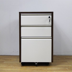 wood frame steel drawer office workstation filing cabinet
