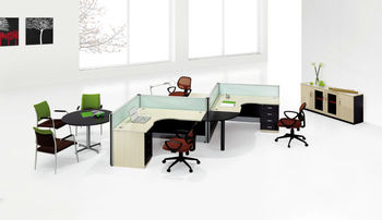 Interior Designers At Work In Office office interior design curved work desk dividers 2 person