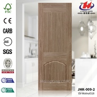 JHK-009-2 Beautiful Black Walnut Veneer Molded HDF Skin Door China Manufacture