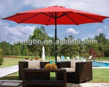 9Ft Outdoor Patio Furniture Umbrella Sun Shade Shelter Parasols Tilt  Mechanism For Patio Umbrella
