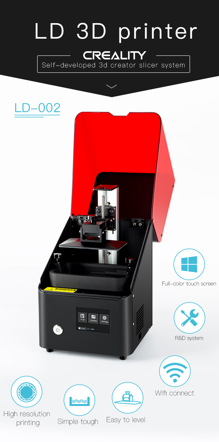 Creality 3D LD-002 3.5 inch color touch screen high speed LCD 3d printer with photosensitive resin