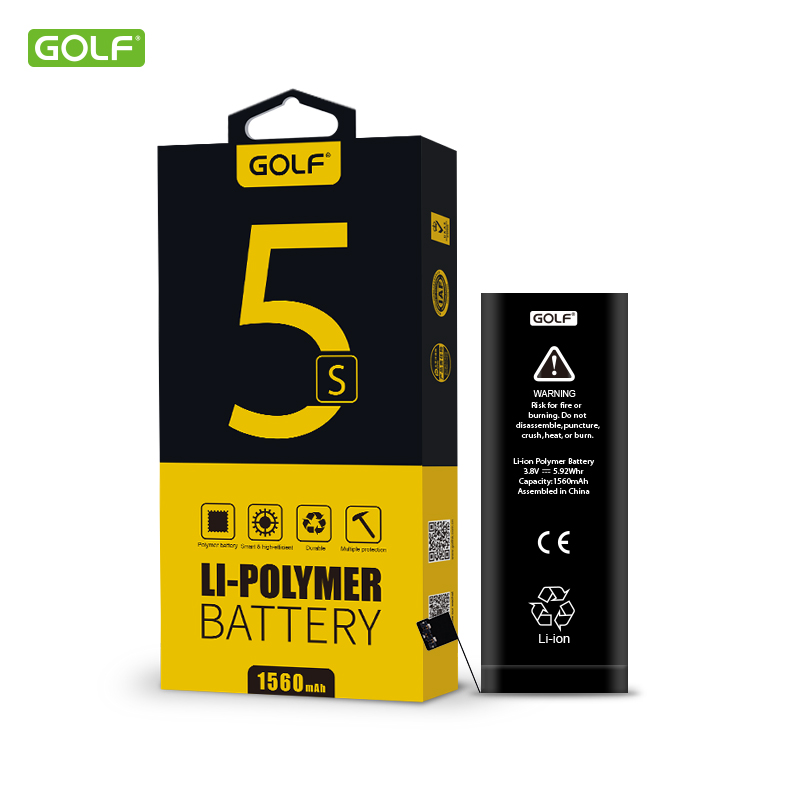 newest golf design ultra thin lithium polymer battery mobile phone battery voltage