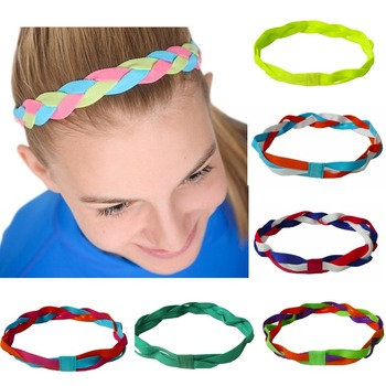 Softball Baseball Sports Braided Headbands Sweat Silicone Non Slip Scrunchy  Girl Soccer Elastic Hair Bands E120 7b8073a6db7c