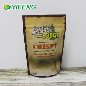 Competitive Price Custom Printed stand up with Zipper Brown Kraft Paper Bag for Food Packaging