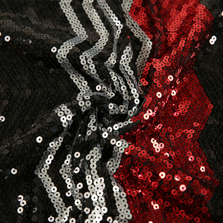 100% Polyester sequin Embroidery Fabric For Decoration Fabric