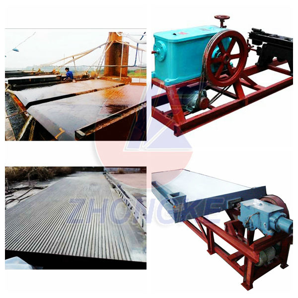 High performance cost ratio mineral concentrated separating shaking table