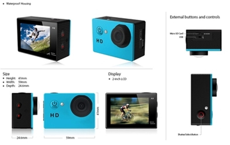 Good price bicycle action camera with CE certificate