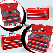 High quality metal tool box kids real set
