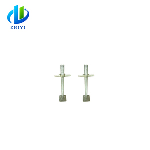 Factory solid steel base prop scaffold screw jack