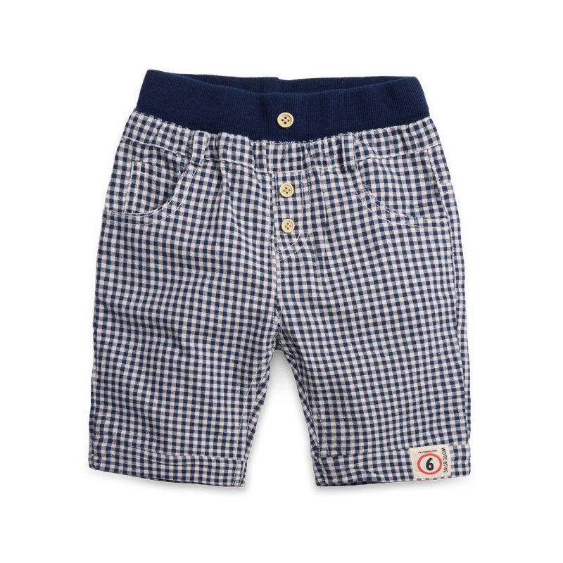 Child fashion shorts baby casual knee-length pants 2015 children's clothing plaid trousers male child shorts