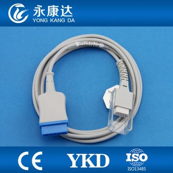 GE Medical spo2 sensor/probe extension/probe cable fit for medical oxygen monitor , 11pin>DB9F