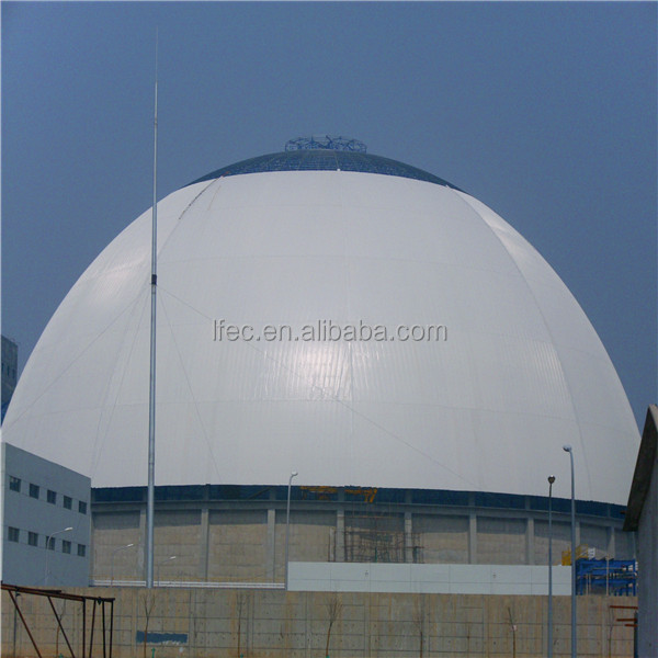 Prefabricated Steel Space Frame Long Span Coal Storage In Thermal Power Plant