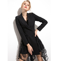 Black irregular dresswomen party dress