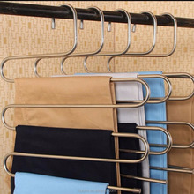 Stainless Steel S-type Multi-Purpose Space Saver Magic Pants Hangers Closet Hangers